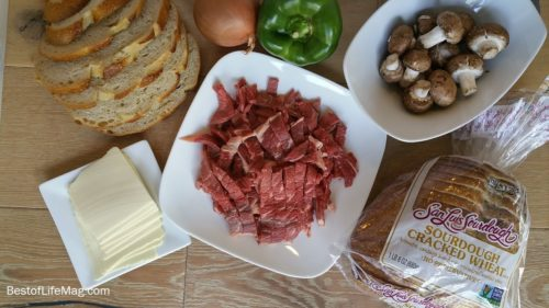 Cheesesteak Panini Recipe Ingredients with Steak