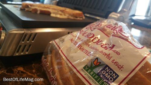 Cheesesteak Panini Recipe with San Luis Sourdough Bread GMO Free