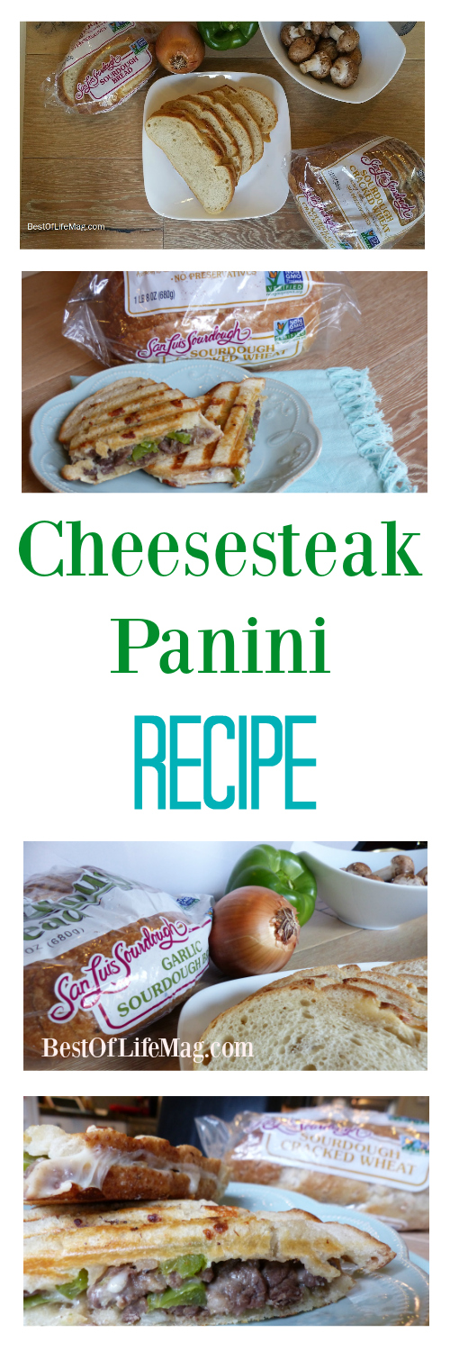 This Cheesesteak Panini Recipe is made with San Luis Sourdough bread offering the taste and texture we all love in a classic sourdough bread.