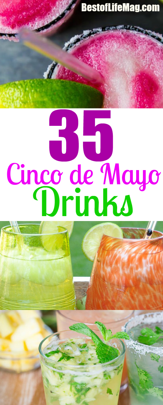 Celebrating Cinco de Mayo is made easier with these cocktail recipes for your party. via @amybarseghian