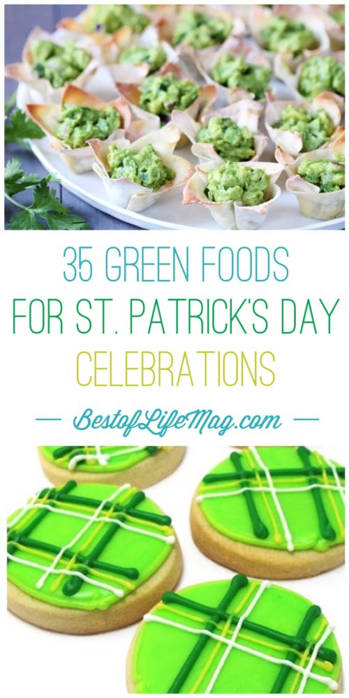 Making green foods is a fun way to celebrate St. Patrick's Day with family and friends. These green foods will add to all of the festivities!