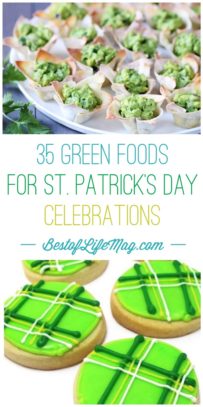 It's time to put up the pumpkin spice and trade it in for some green foods for St. Patrick's Day that add a little green into your life.