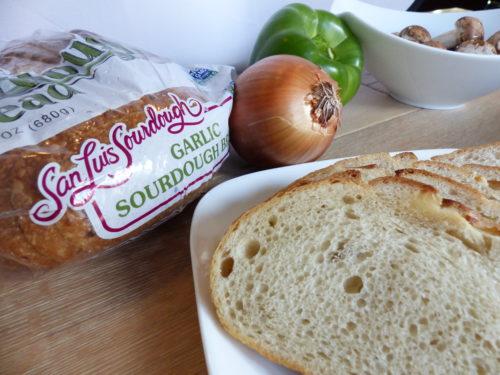 Cheesesteak Panini Recipe on Sourdough Bread