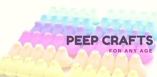 Everyone loves Peeps but it is impossible to eat all of the ones we get for Easter! Turn the sugar into fun with these Peep Crafts for Any Age!