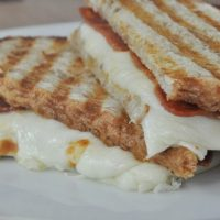 Pizza Panini Recipe Melted Cheese