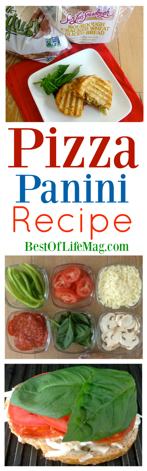 Our pizza panini recipe takes the popular pizza to a whole new level with fresh ingredients that everyone will love and it compliments weekly meal planning!