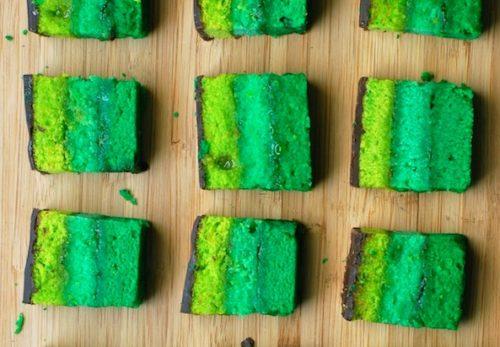 Rainbow Cookies Green Foods
