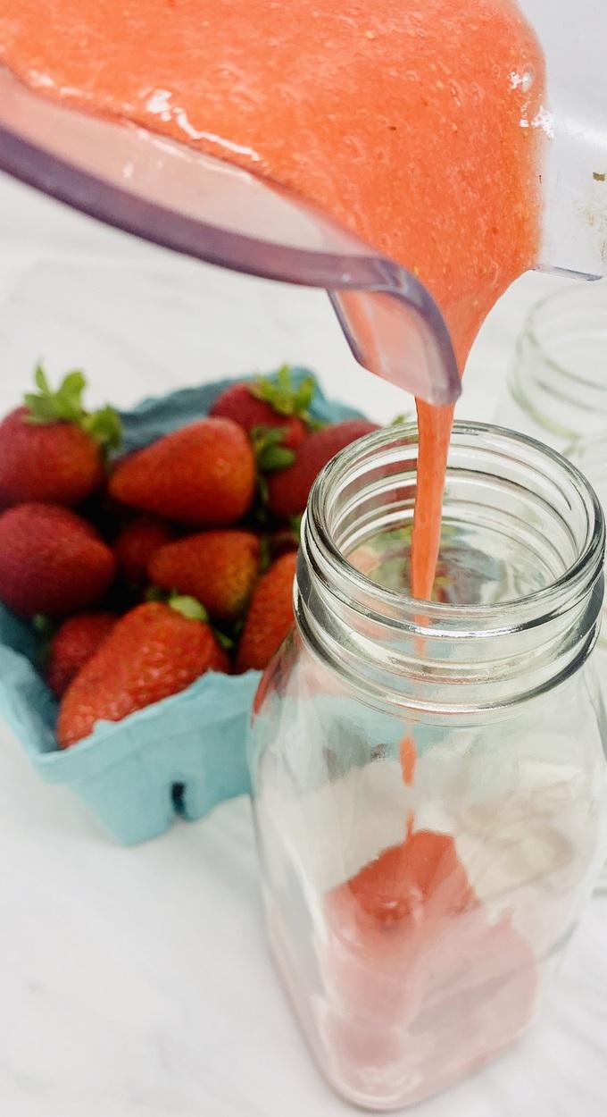 Strawberry Margarita Recipe Frozen Margarita Being Poured into a Jar