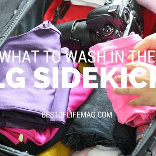 What to Wash in the LG Sidekick