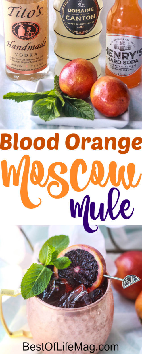 There's something magical about the process of making a good blood orange Moscow Mule.