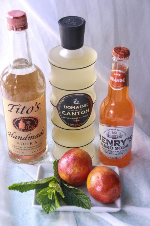 Blood Orange Moscow Mule Ingredients