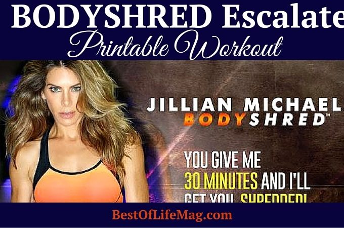 Our BODYSHRED Escalate Printable Workout Checklist will help you stay on track with your BODYSHRED workout program no matter where you are. Print and do it!