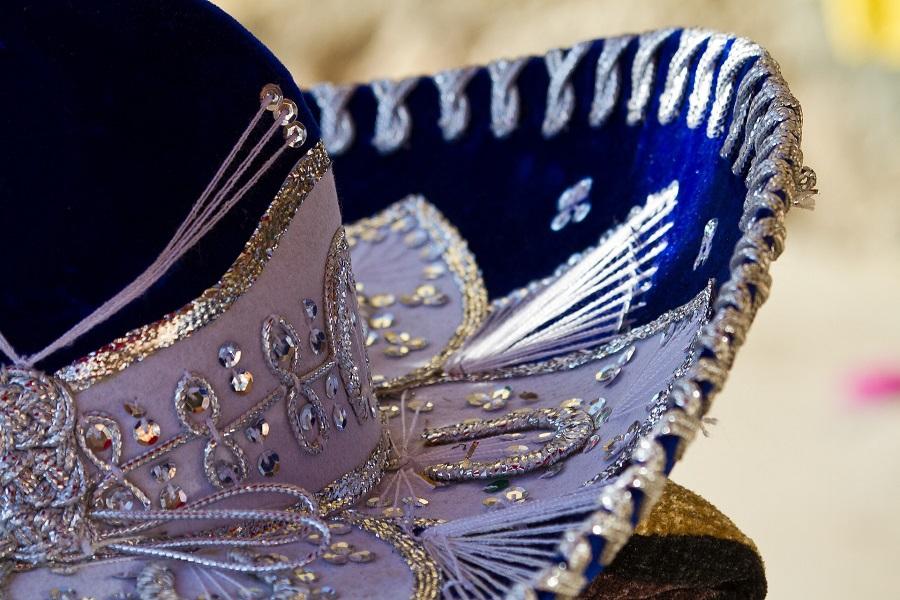 Cinco de Mayo Drinks Close Up of a Blue Sombrero