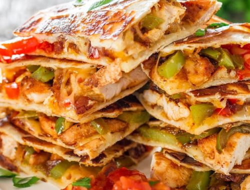 Cinco de Mayo Foods Chicken Fajita Quesadillas