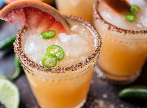 Cinco de Mayo Foods Spicy Grapefruit Margaritas