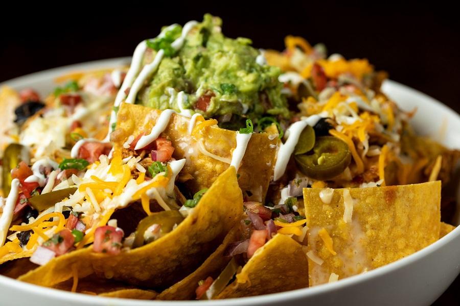 Cinco de Mayo Foods Close Up of Nachos on a Plate