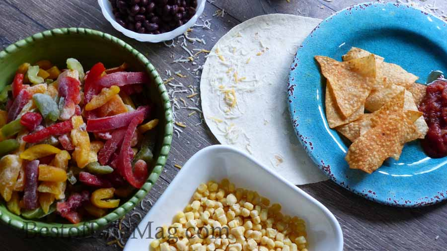 Dairy Free Dinner Recipes Overhead View of a Taco Bar