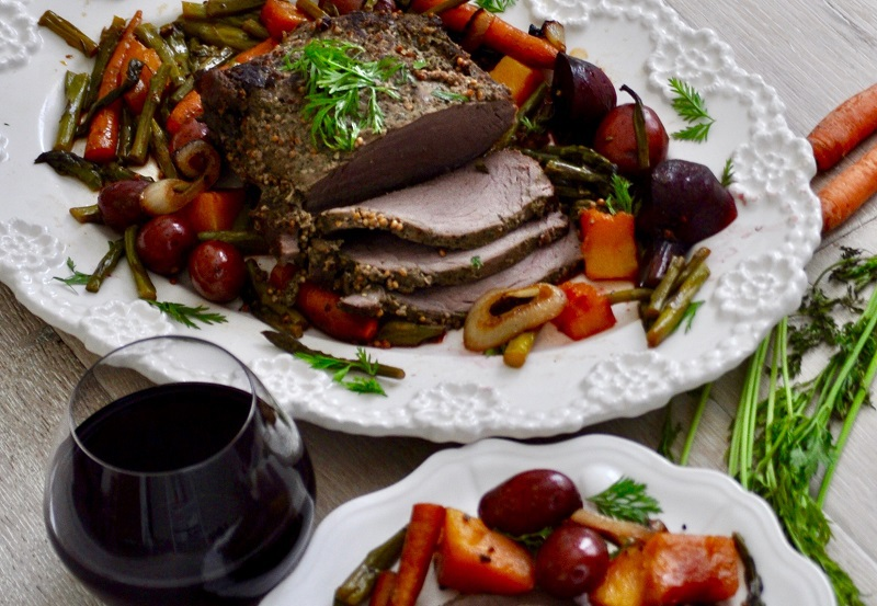 Dairy Free Dinner Recipes Angled View of a Pot Roast
