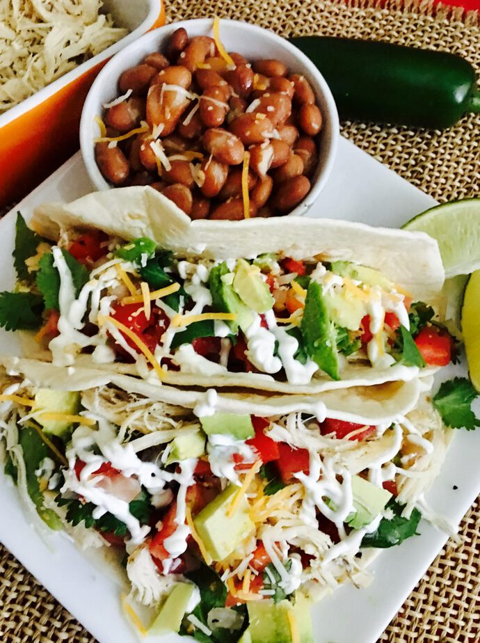 Dairy Free Dinner Recipes Overhead View of Tacos