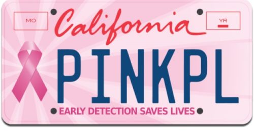 Pink Ribbon License Plate Gift Ideas For Mom