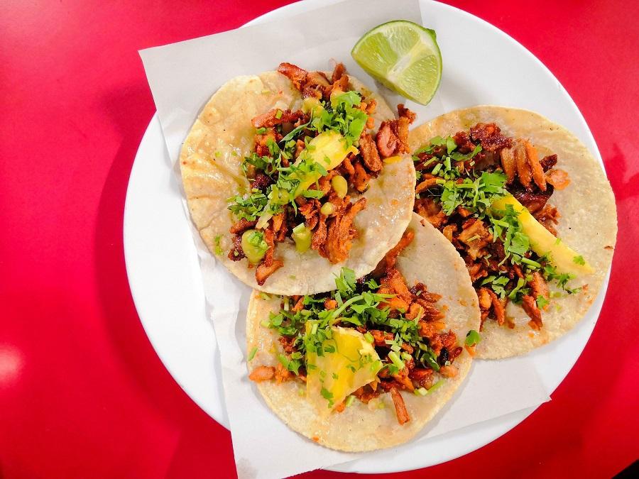 Cinco de Mayo Foods Tacos on a White Plate