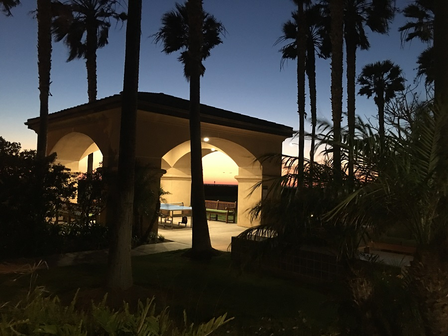 Sunset at the Hilton Garden Inn Carlsbad Beach