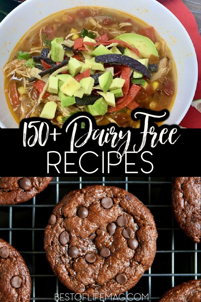 Take control of your dairy free diet with the ultimate list of recipes for every meal of the day! Embrace cooking for food allergies with 150+ dairy free meals! Dairy Free Dinner | Dairy Free Breakfast | Dairy Free Lunch Recipes | Dairy Free Snacks | Easy Dairy Free Recipes | Dairy Free Recipes for Kids | Dairy Free Desserts | Food Allergy Recipes without Dairy #dairyfreerecipes #healthyrecipes via @amybarseghian