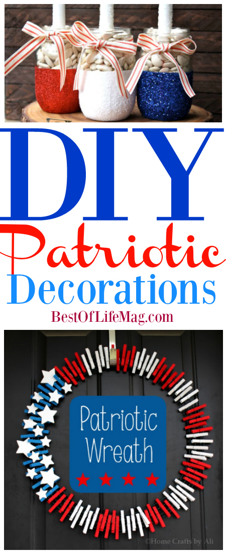 DIY projects can be fun for everyone in the family especially when making these perfect patriotic decorations.