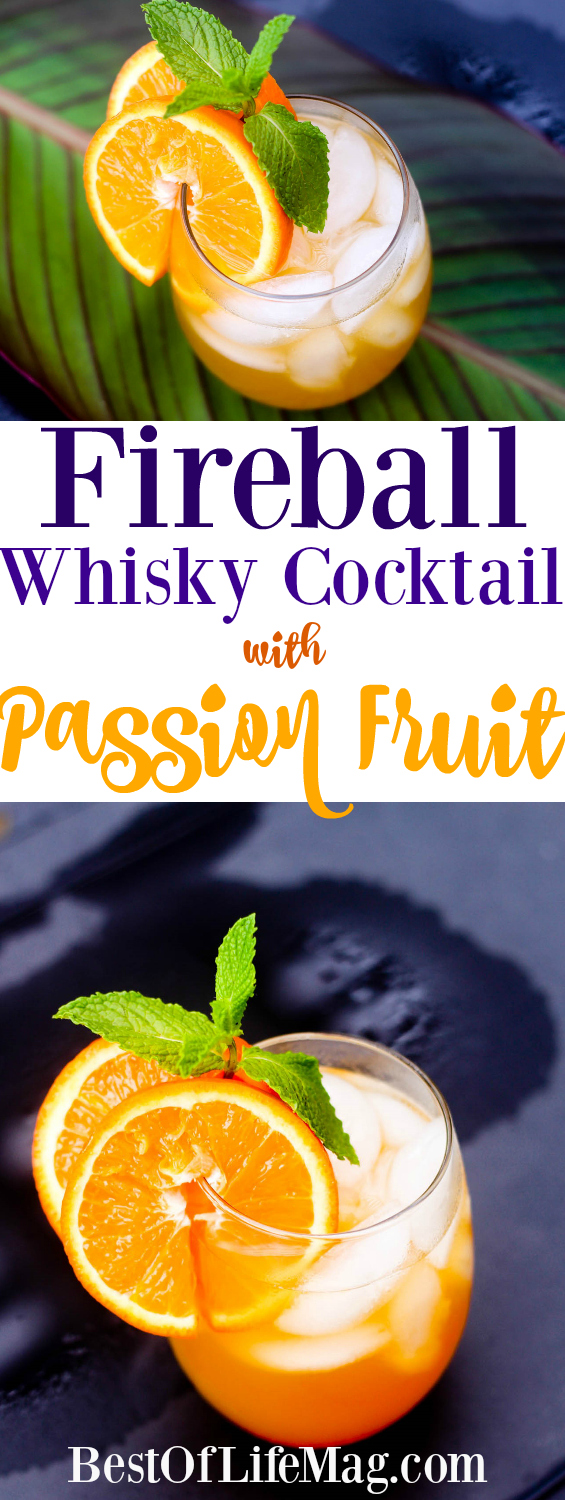 This Fireball whisky cocktail with passion fruit brings out the best in Fireball with a fruit infusion that will put the fire breathing dragon to rest.