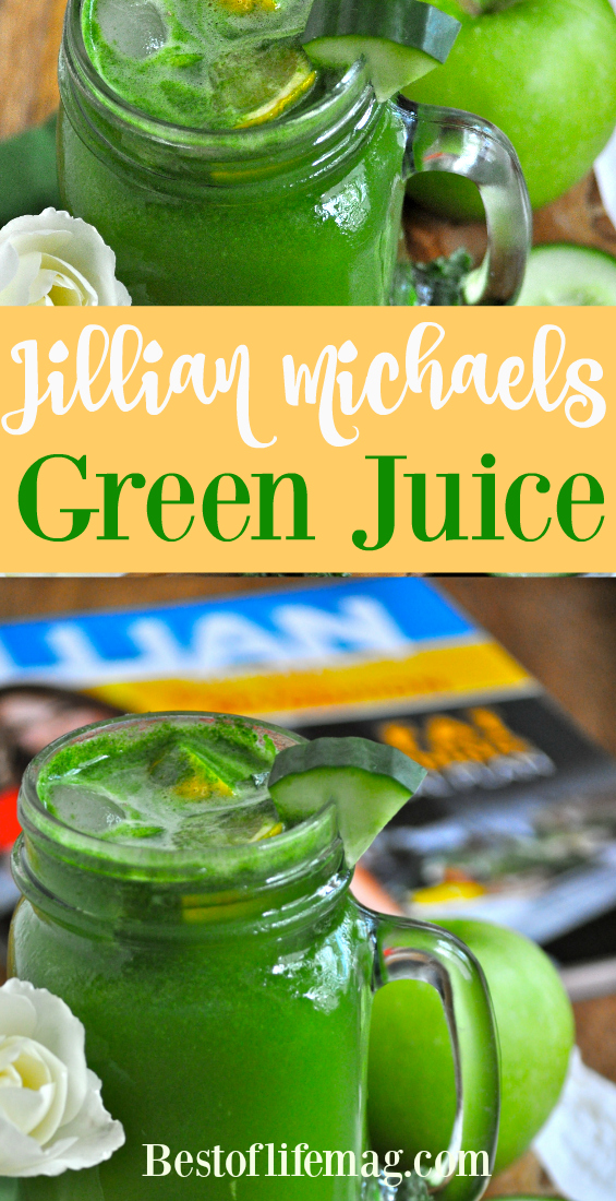 This Jillian Michael's Green Juice recipe follows what Jillian believes is important in juicing and lets you focus on eating healthy!