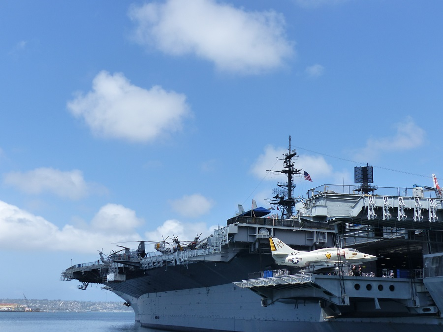 Residence Inn San Diego Downtown Bayfront walking distance to uss midway