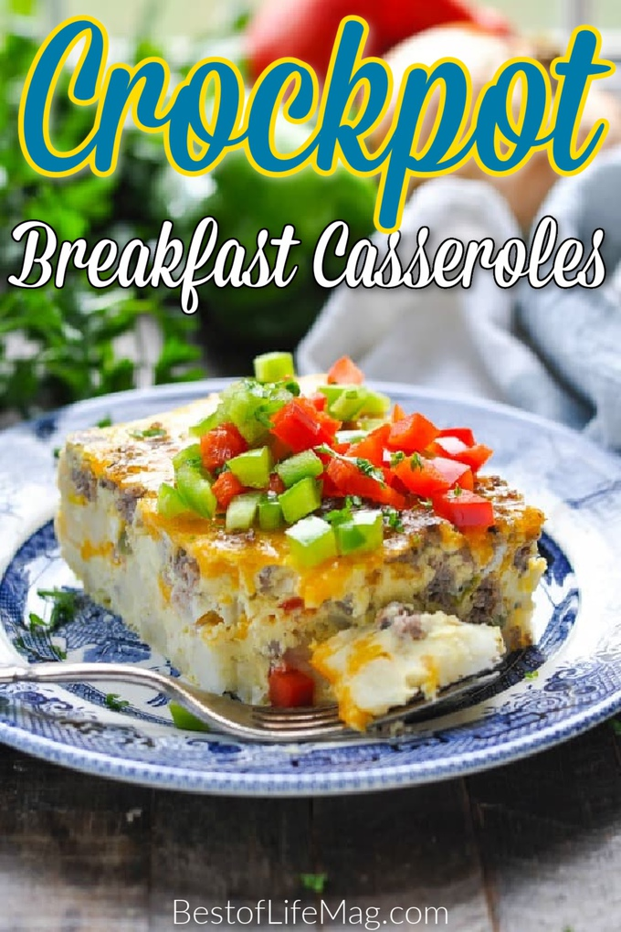 A crockpot breakfast casserole is the perfect time-saving addition to your morning! You don't have to skip out on breakfast due to time! Crockpot Breakfast Casserole Sausage | Overnight Crockpot Breakfast Recipe | Slow Cooker Breakfast Hash Browns | Breakfast Recipes for Busy People | Crockpot Casserole Breakfast | Slow Cooker Breakfast Casserole #breakfast #crockpot via @amybarseghian