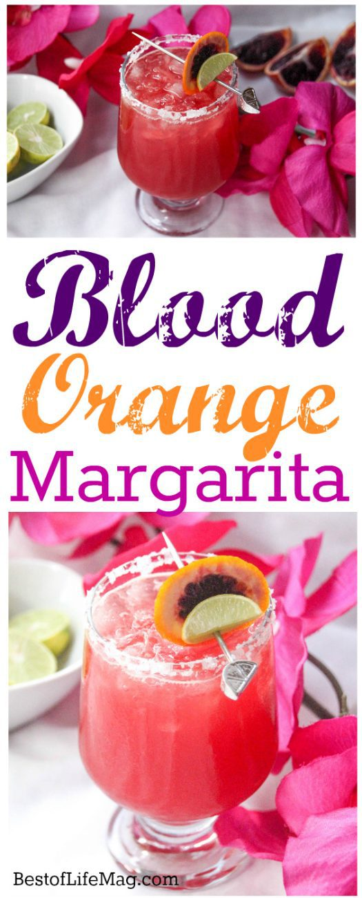 Our blood orange margarita recipe is refreshing, without being too sweet. The bright color displays beautifully for entertaining friends, too! Frozen Orange Margarita | Skinny Orange Margarita | Orange Citrus Margarita | Mandarin Orange Margarita | Classic Margarita Recipe | Fruity Cocktail Recipe | Cocktail Recipes with Blood Oranges #margarita #orange via @amybarseghian