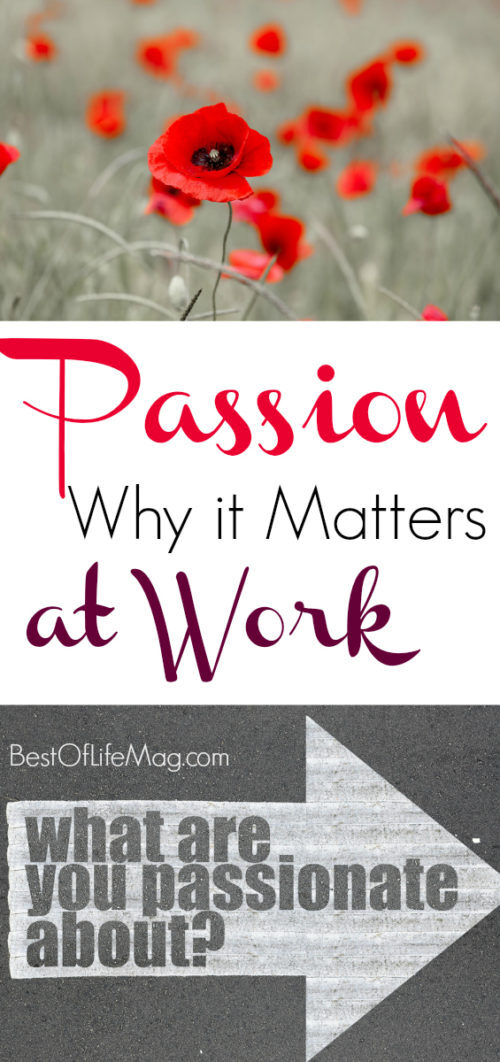 Being passionate about work matters; it sets you apart from the rest and lets your personality shine in everything you do.