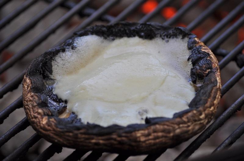 grilled Portobello Mushroom Burger with cheese