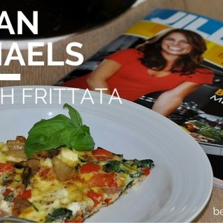 Enjoy this Jillian Michaels spinach frittata recipe with potatoes peppers and feta anytime of day to stay on your meal plan or to simply eat healthy.