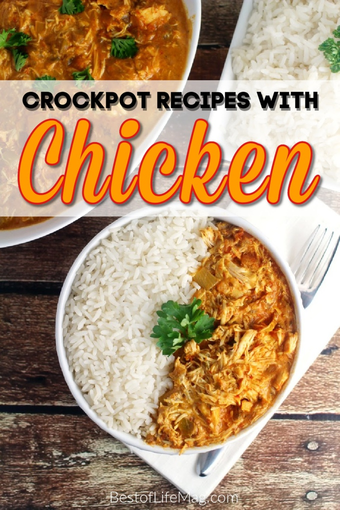 Save time in the kitchen with these crockpot chicken recipes! They are perfect weeknight meals or as holiday recipes that can be made quickly. Crockpot Chicken and Dumplings | Slow Cooker Chicken Noddle Soup | Crockpot Recipes with Chicken | Chicken Tacos Slow Cooker | Chicken Pot Pie Crockpot | Easy Crockpot Dinner Recipes | Chicken Recipes for Dinner | Meal Planning Chicken Recipes #chicken #crockpot via @amybarseghian