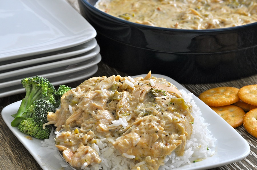 Crockpot Chicken Recipes Overhead View of Shredded Chicken and Rice