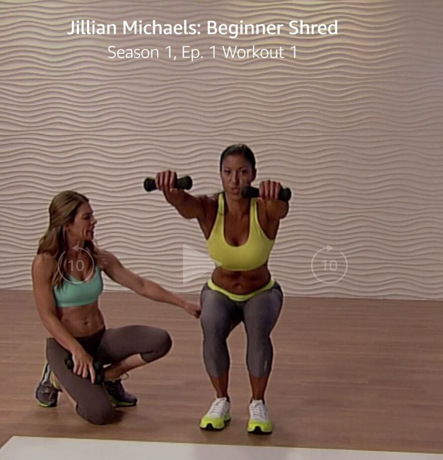 Jillian Michaels Beginner Shred workout will tone and tighten your body with low impact moves that can be easily modified for higher fitness levels.