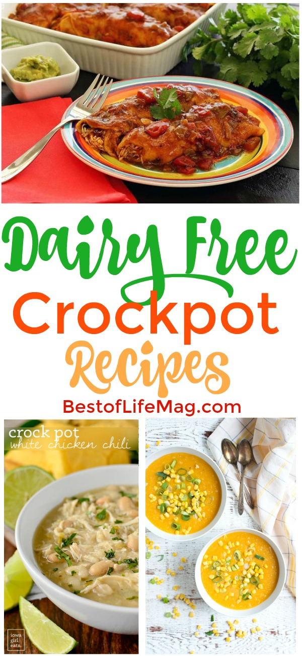 Fill your recipe book with some of the best dairy free crockpot recipes and enjoy eating with a dietary restriction like you did before. Crockpot Recipes without Dairy | Dairy Free Recipes | Dairy-Free Chicken Recipes | Dairy-Free Crockpot Side Dishes | Healthy Slow Cooker Recipes | Slow Cooker Recipes without Dairy #dairyfree #crockpot via @amybarseghian