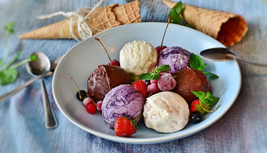 Dairy Free Ice Cream Recipes A Bowl with Scoops of Various Flavors of Ice Cream