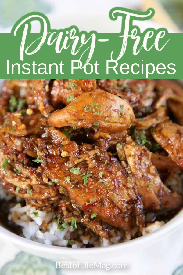 The Instant Pot is a great way to create tons of different recipes in no time! These dairy free instant pot recipes are delicious while honoring dietary restrictions or food allergies. Dairy Free Recipes | Instant Pot Recipes | No Dairy Recipes | Easy Food Allergy Recipes | Instant Pot Food Allergy Recipes | Best Instant Pot Recipes | Healthy Recipes | Easy Dairy Free Recipes #dairyfreerecipes #instantpotrecipes via @amybarseghian