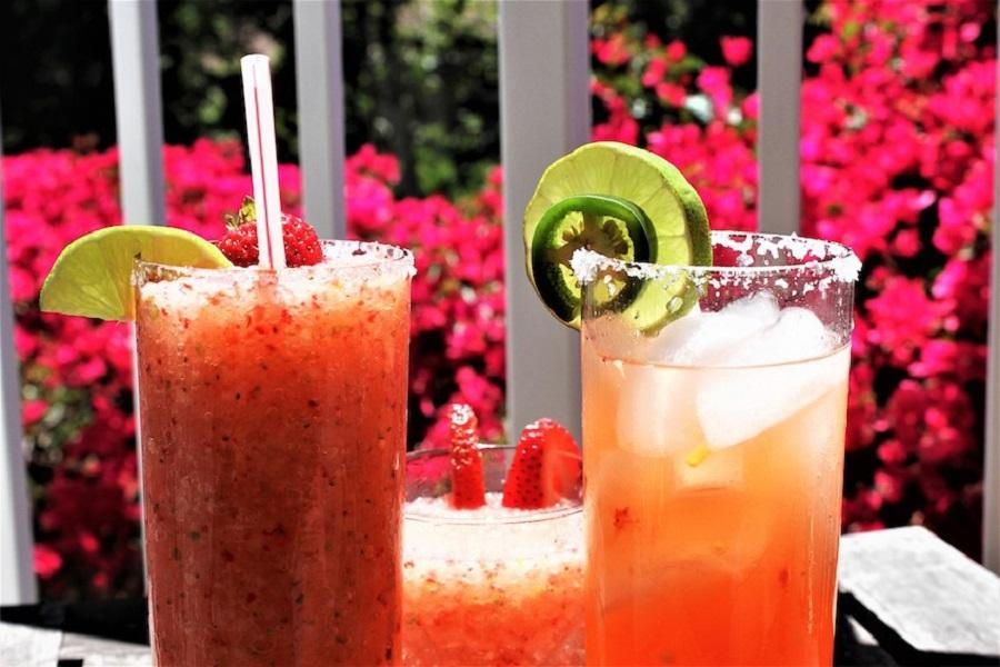 Fruity Margarita Recipes Close Up of Two Glasses of Margaritas