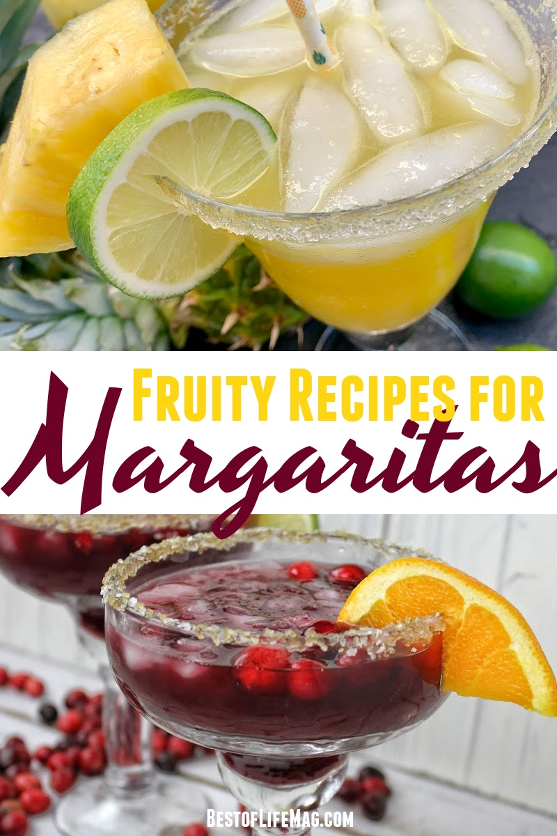 The best fruity margarita recipes include fresh fruit but even without fresh fruit, as long as you have good alcohol you'll be fine. via @amybarseghian