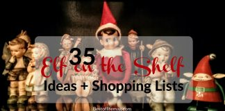 It will soon be time for Elf on the Shelf fun to begin! Your Elf on the Shelf Shopping List is here with over 35 fun ideas!