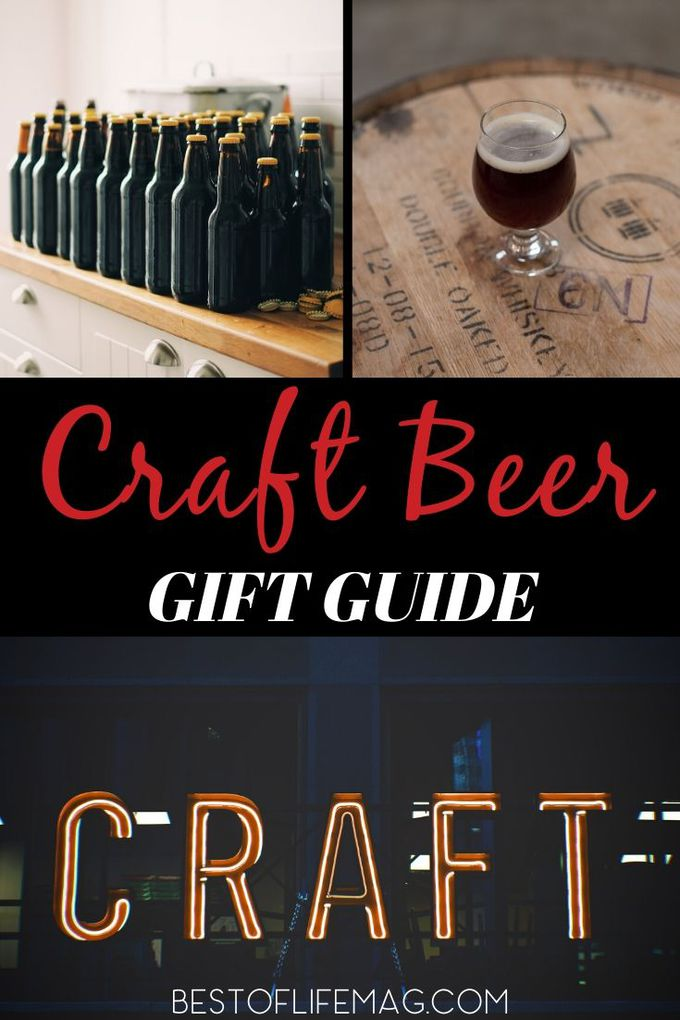 Shopping for craft beer lovers is easier than you might think! The rising popularity of craft beer gifts has made them more accessible than ever! Gifts for Him | Gifts for Beer Lovers | Gift Ideas for Craft Beer Lovers | Craft Beer Gift Ideas | Craft Beer Tips #gifts #guide