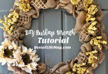 DIY Burlap Wreath for Fall - A step by step Tutorial