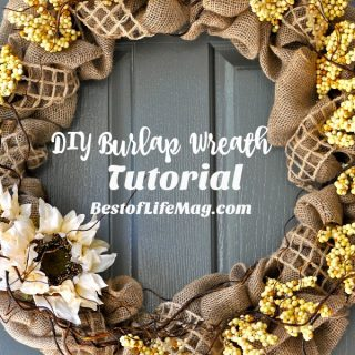 Our neutral fall DIY burlap wreath keeps your home looking chic and stylish throughout the entire season with its Restoration Hardware inspired design. How to Make a Wreath | How to Make a Ruffled Burlap Wreath | How to Make a Wreath with Burlap Squares | Fall Burlap Wreath | Burlap Wreath Supplies