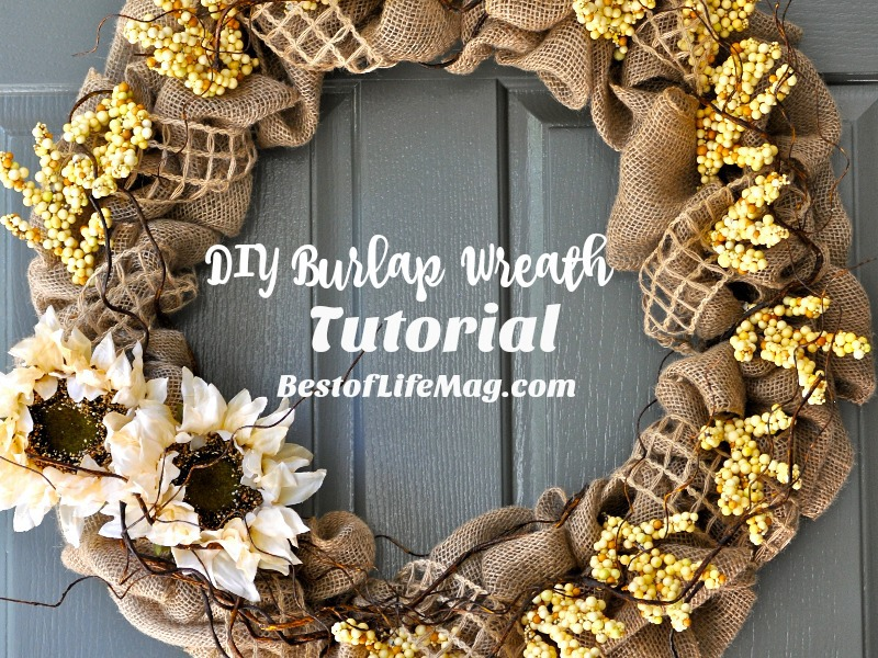 DIY Burlap Wreath for Fall - A step by step Tutorial