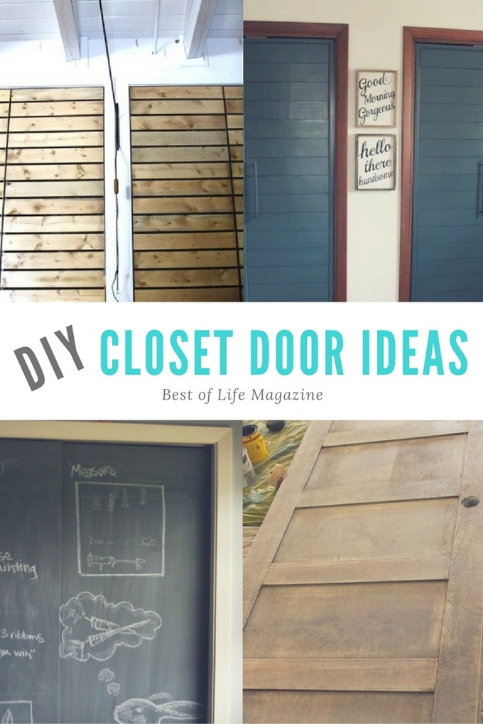 DIY Closet Doors can transform a room! There are so many fun ideas for every budget!
